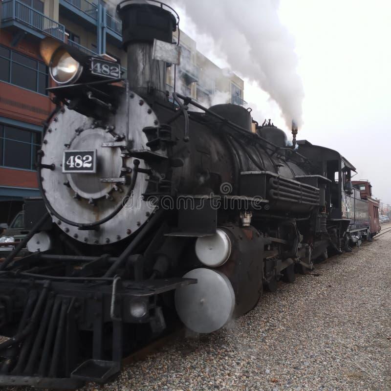 Järnväg Durango Colorado och Silverton för smalt mått ?ngamotor arkivbild