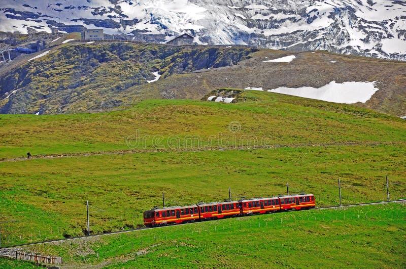 Järnväg för smal gauge. Schweitz. royaltyfri bild