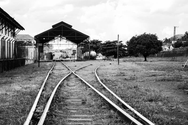järnväg filial royaltyfria foton