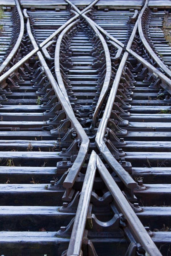 järnväg frostade linjer arkivfoton