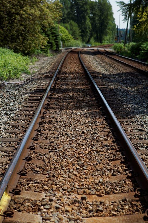 Järnväg i fortlangley arkivbild