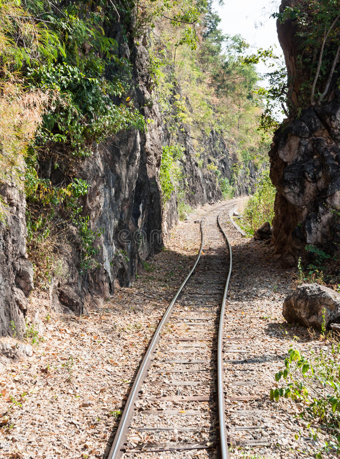Järnväg linje för passage arkivfoton