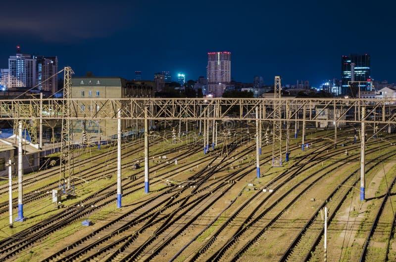 Järnväg linjer royaltyfria bilder