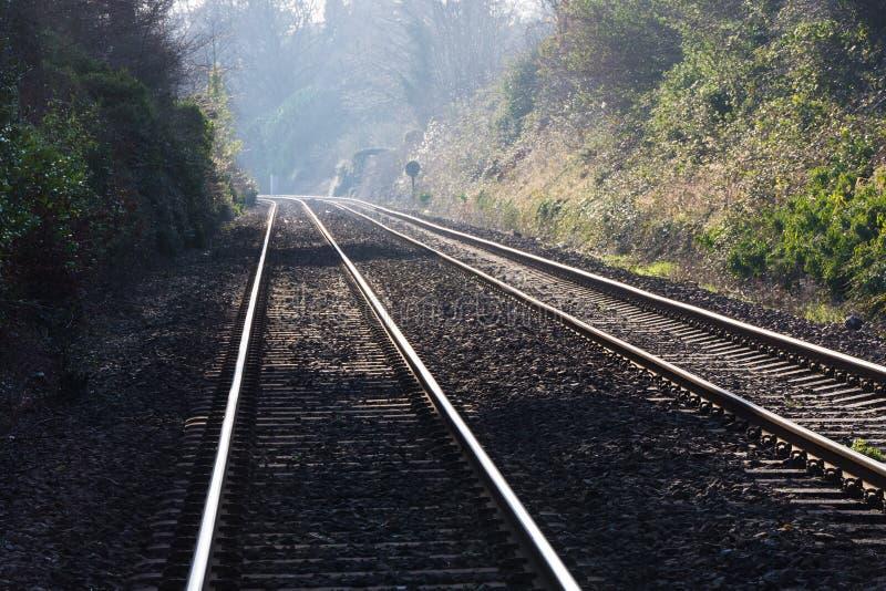 Järnväg linjer royaltyfri bild
