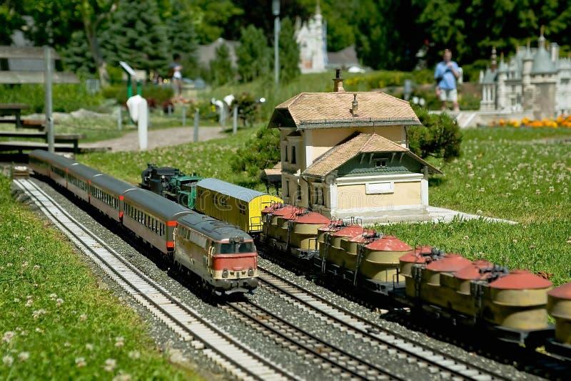 Järnväg modell fotografering för bildbyråer