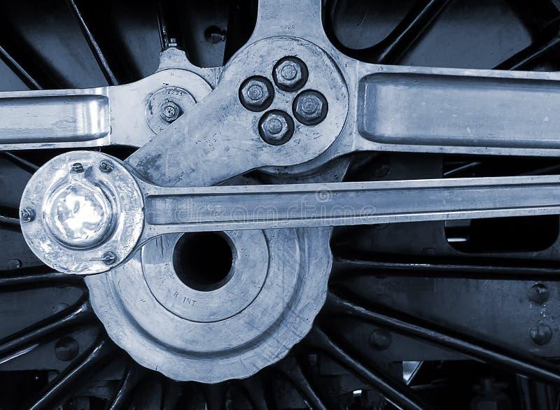 Järnväg motorhjul royaltyfria foton