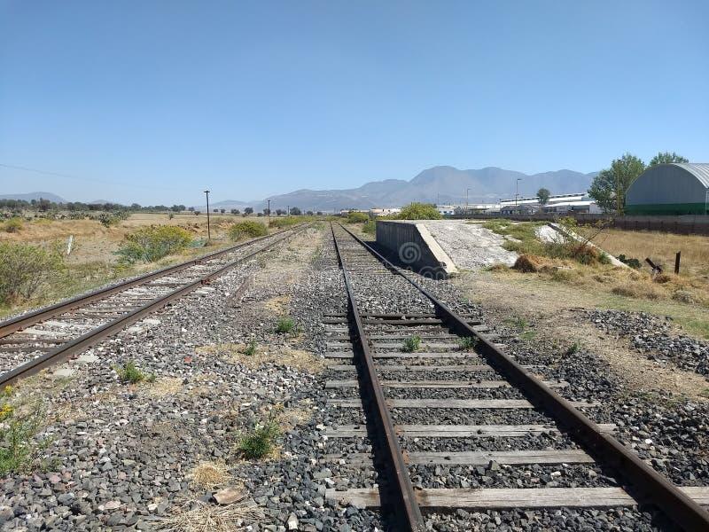 Järnväg på Mexiko royaltyfri fotografi