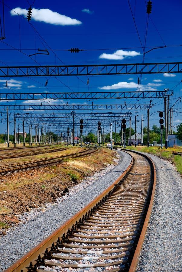 järnväg sikt royaltyfria bilder