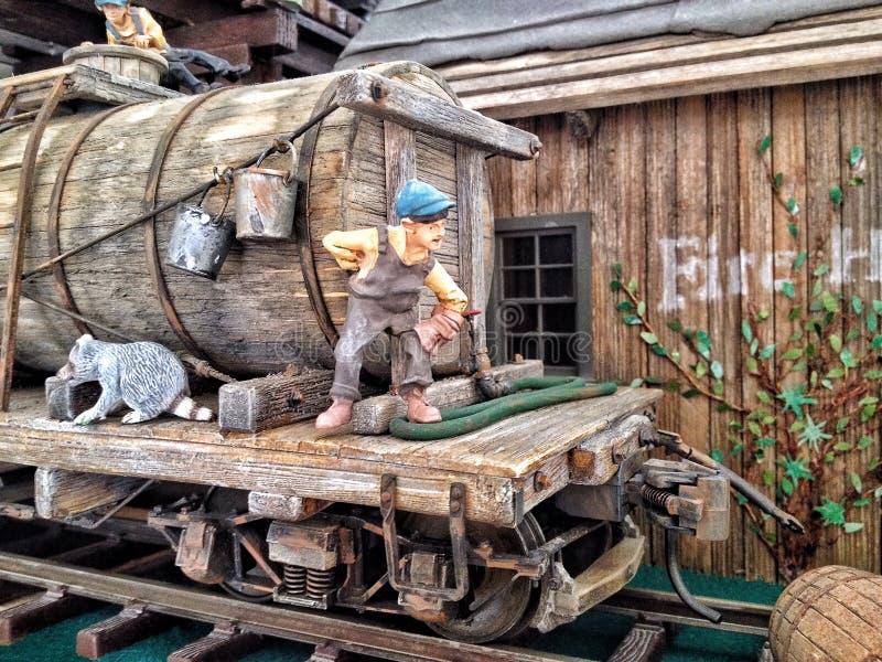 Järnväg som modellerar i stor skala fotografering för bildbyråer