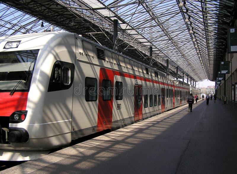 järnväg station royaltyfri foto