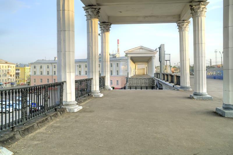 järnväg station Stad Oryol royaltyfri bild