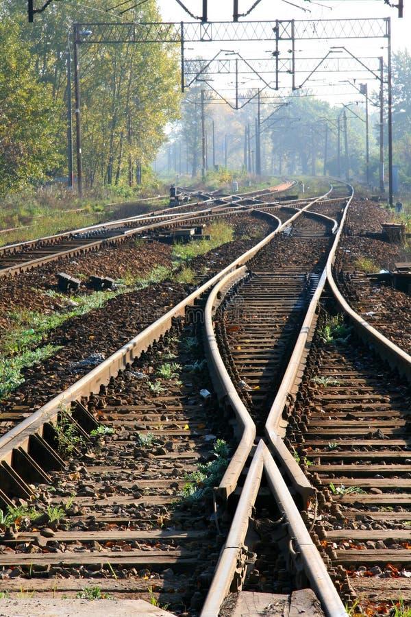 järnväg strömbrytare arkivfoto