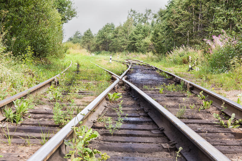 Järnväg strömbrytare royaltyfri fotografi