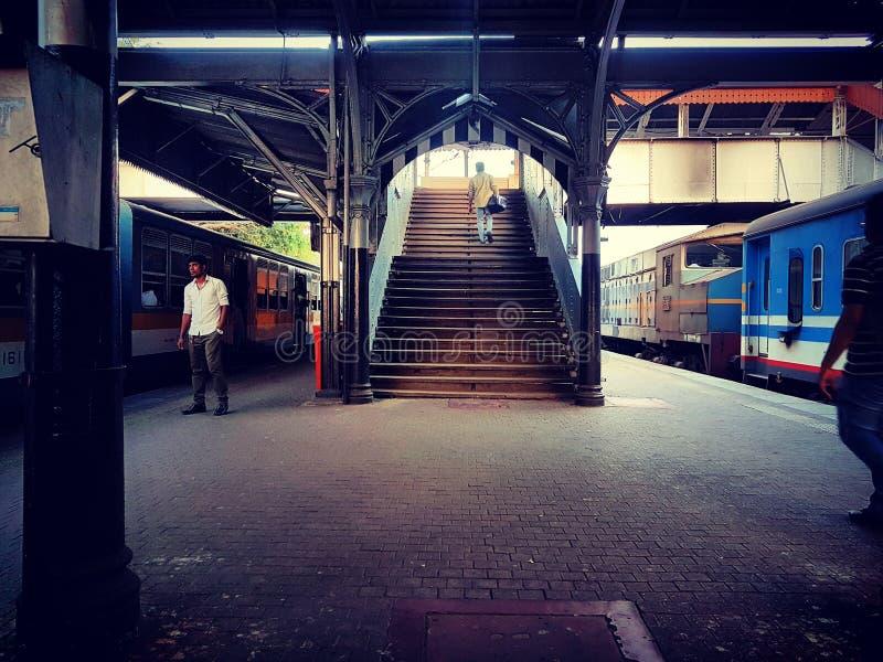 Järnväg sttion royaltyfri bild