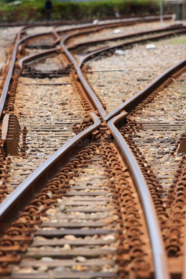 järnväg system arkivbild