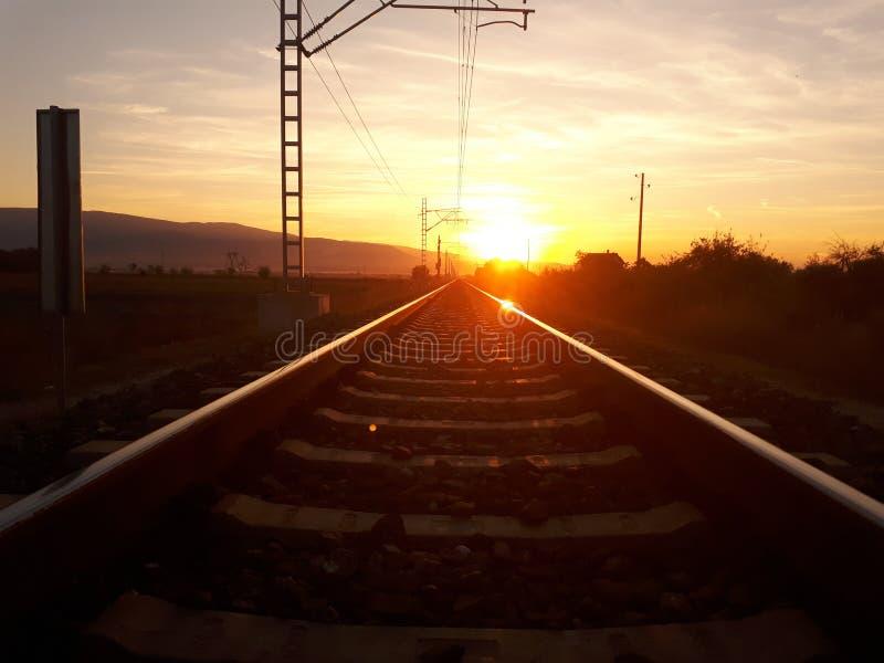 Järnväg till arkivbild