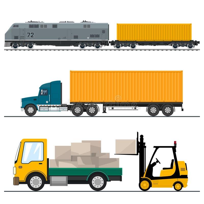 Järnväg trans. och transport vektor illustrationer