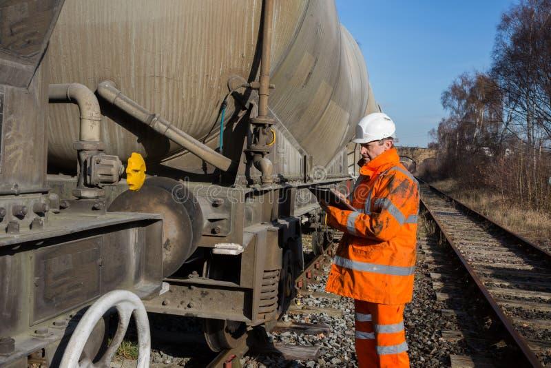 Järnväg underhållsinspektör royaltyfri fotografi