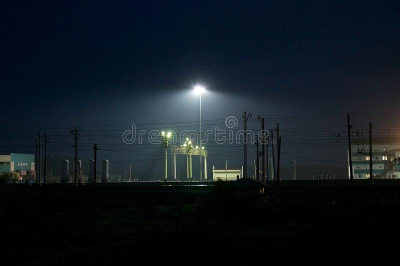 Järnväg uttryck i Omsk arkivfoto