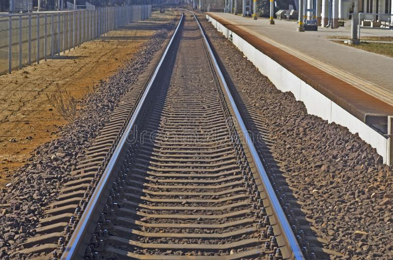 järnvägar royaltyfria foton