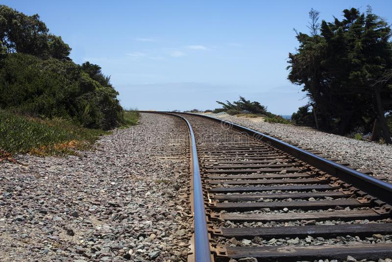 Järnvägband och spår arkivfoton