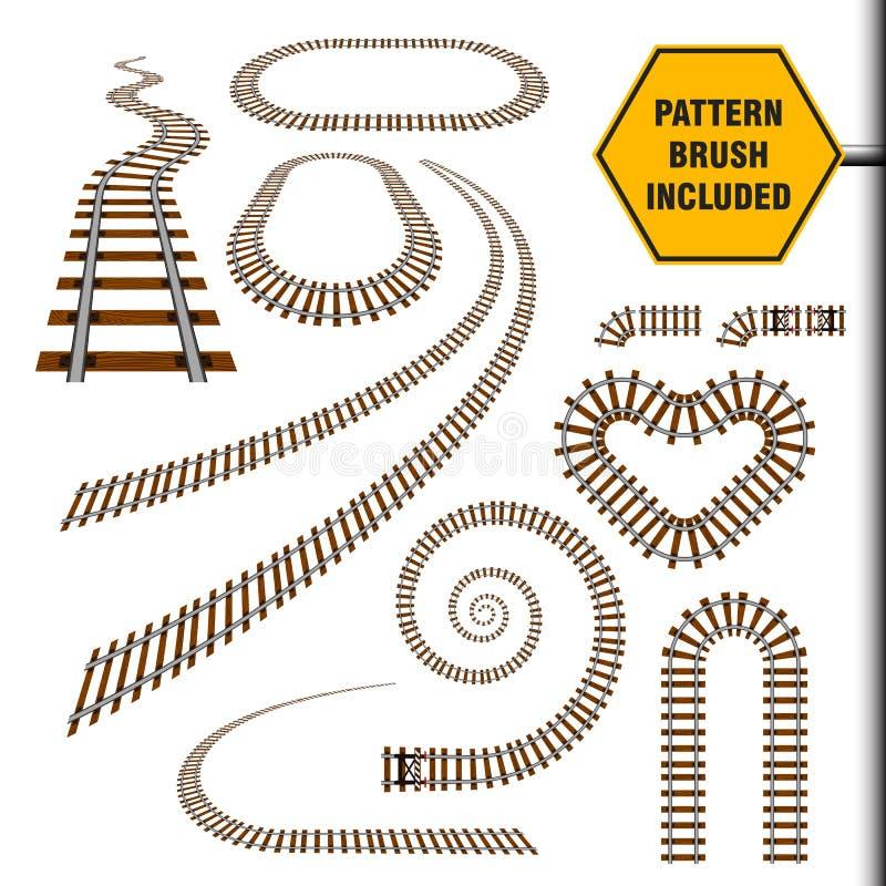 Järnvägbeståndsdeluppsättning 2 vektor illustrationer