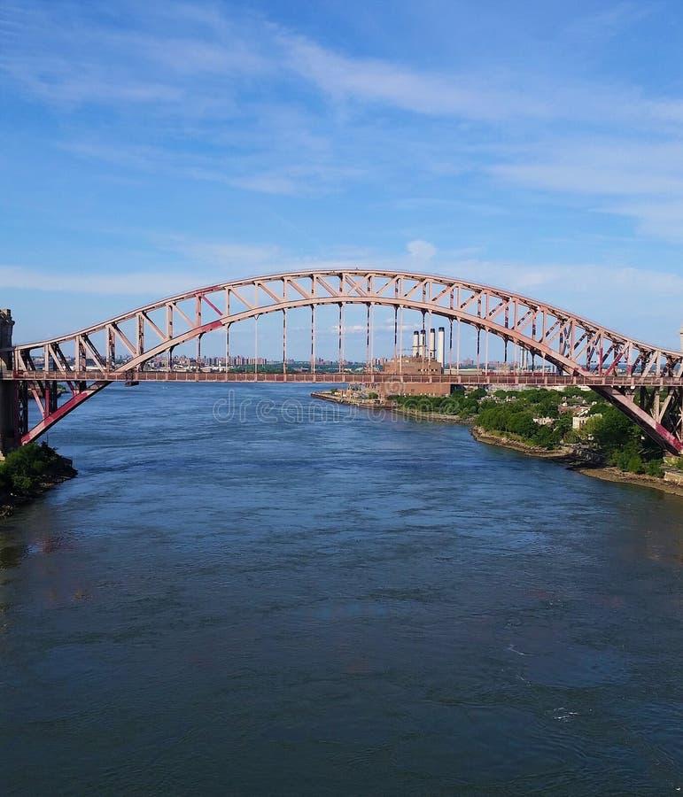 Järnvägbro på en klar dag royaltyfri bild