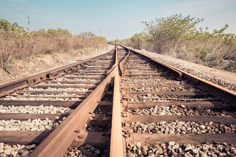 Järnvägdeltagandecloseup fotografering för bildbyråer