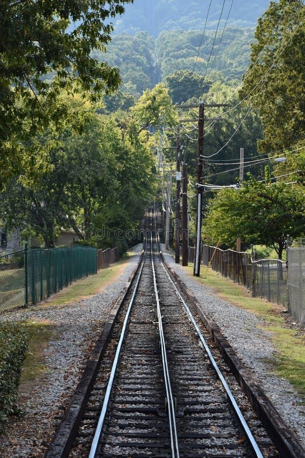 Järnvägen för utkikbergsluttning i Chattanooga, Tennessee royaltyfri fotografi