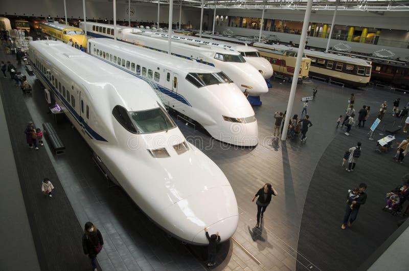 Järnvägen parkerar i Nagoya, Japan arkivbilder
