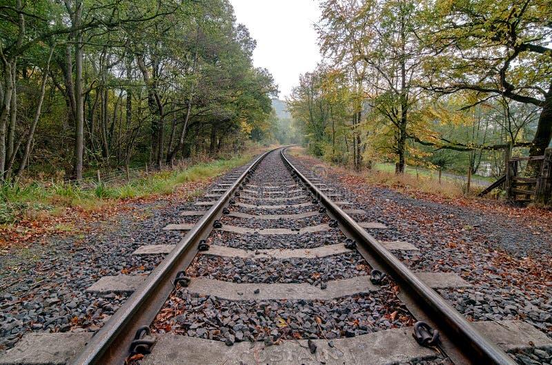 Järnvägen spårar (HDR) arkivbild