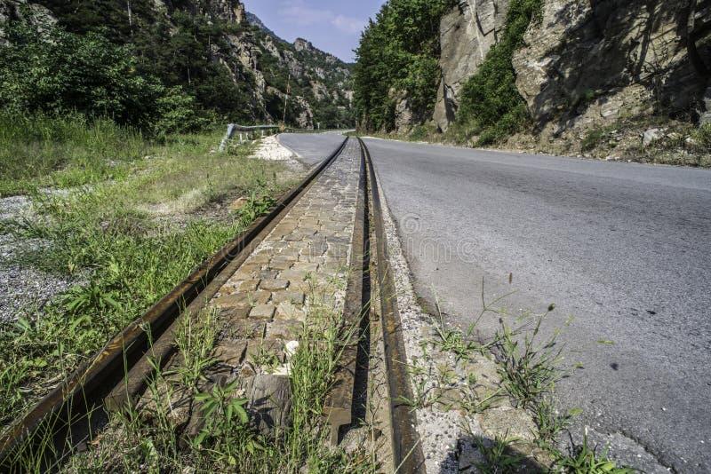 Järnvägkorsning arkivfoto