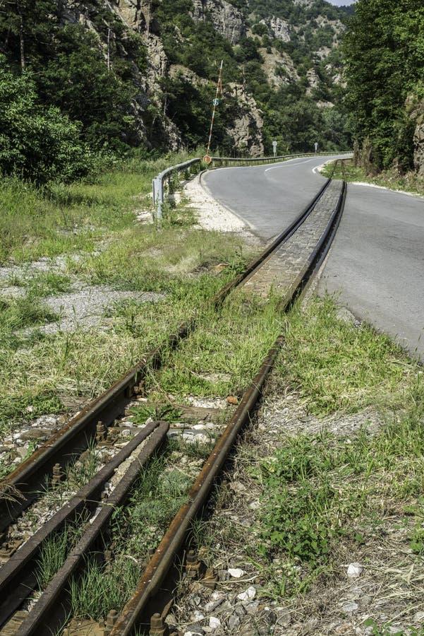 Järnvägkorsning royaltyfria bilder