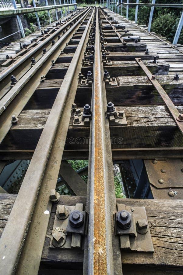 Järnvägkorsning arkivbild