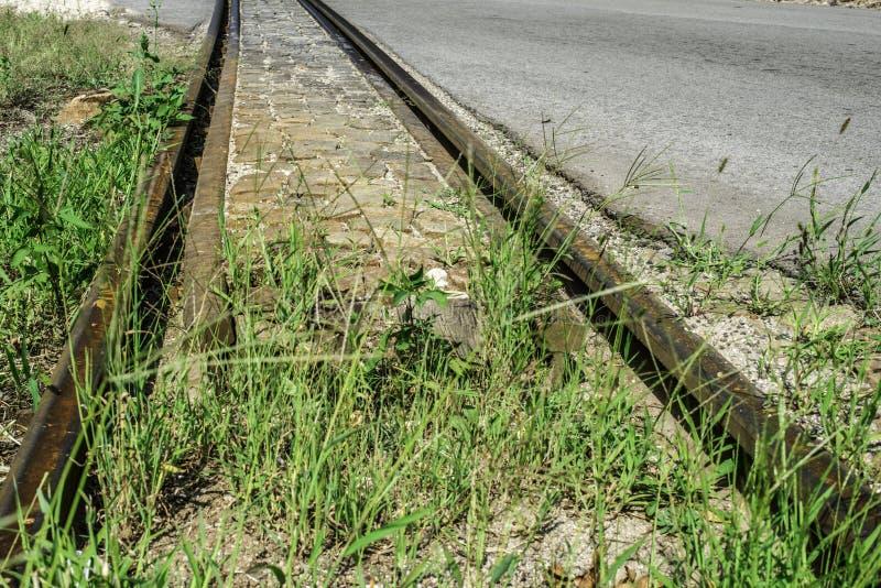 Järnvägkorsning arkivfoton