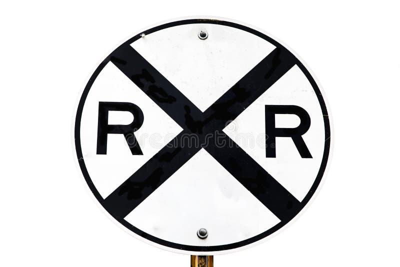 Järnvägkorsningen undertecknar royaltyfri bild