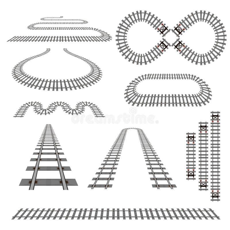 Järnvägkurvuppsättning 2 royaltyfri illustrationer