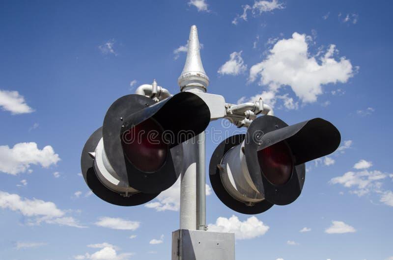 Järnvägljus fotografering för bildbyråer