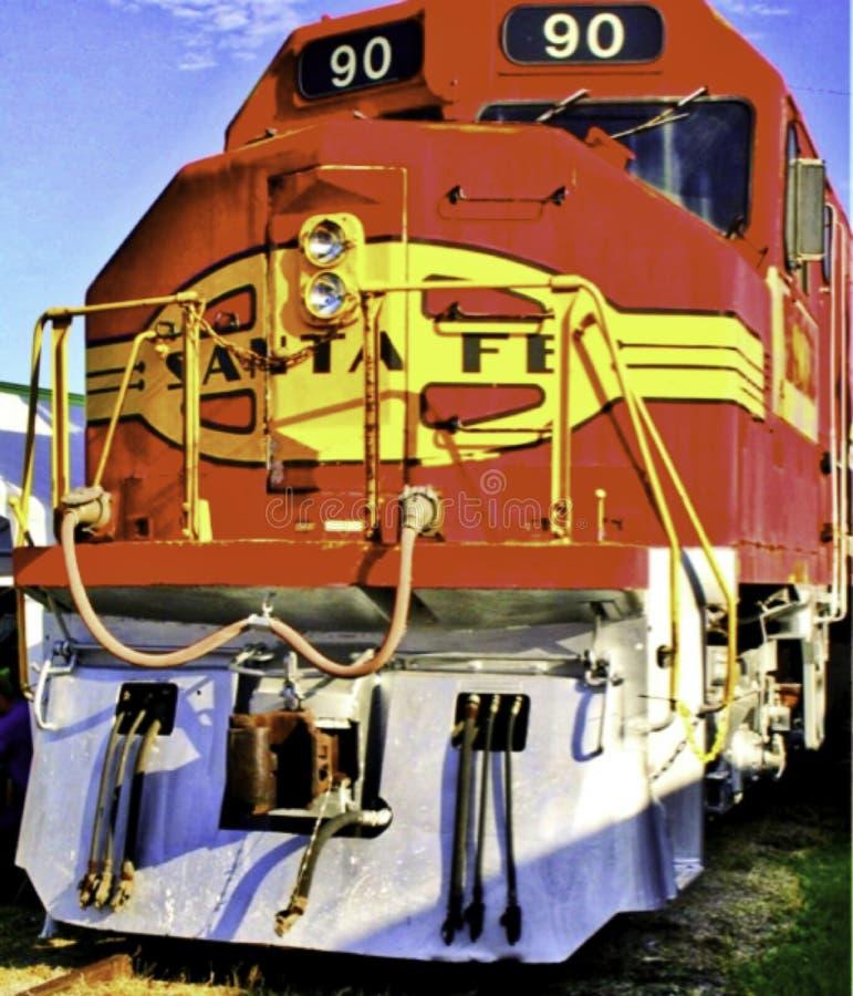 Järnvägmotor 90, Santa Fe Railroad, dieselmotor royaltyfria bilder