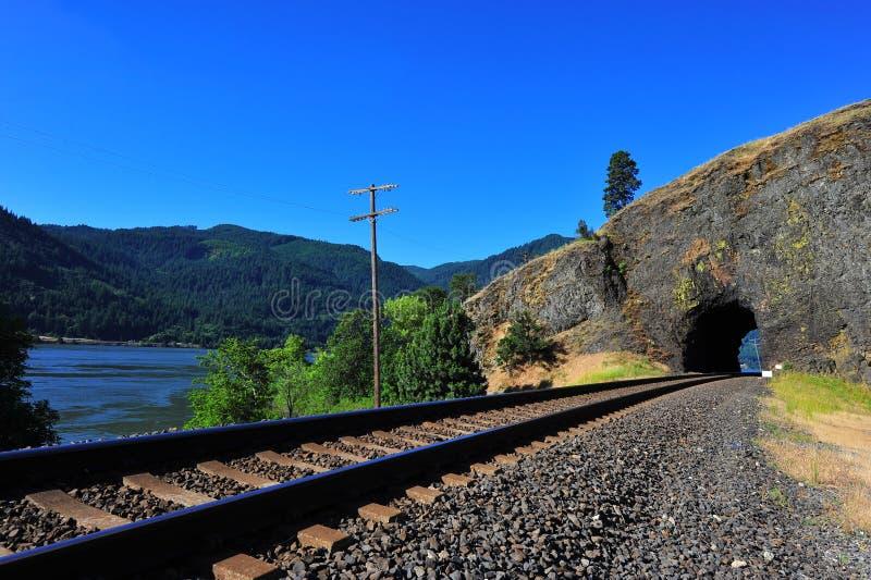 järnvägspår royaltyfri bild