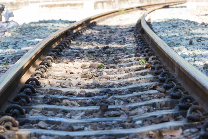 Järnvägsspår linje korsning järnvägsspår arkivbilder