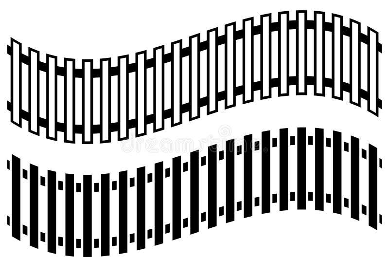 Järnvägsspår med version 2 Gångtunnel spårvagnspår Offentlig transp vektor illustrationer
