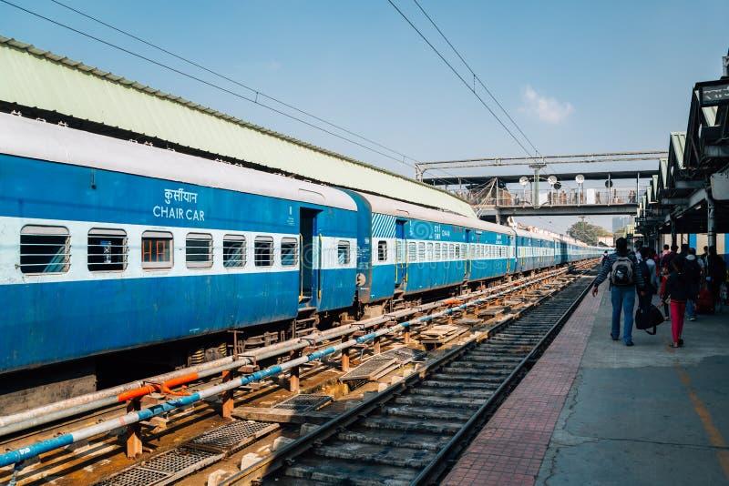 Järnvägsstation för Bengaluru stadsföreningspunkt i Bangalore, Indien arkivbilder