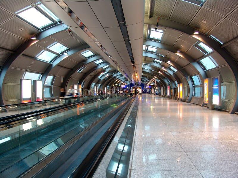 Järnvägsstation för Frankfurt flygplats royaltyfria foton