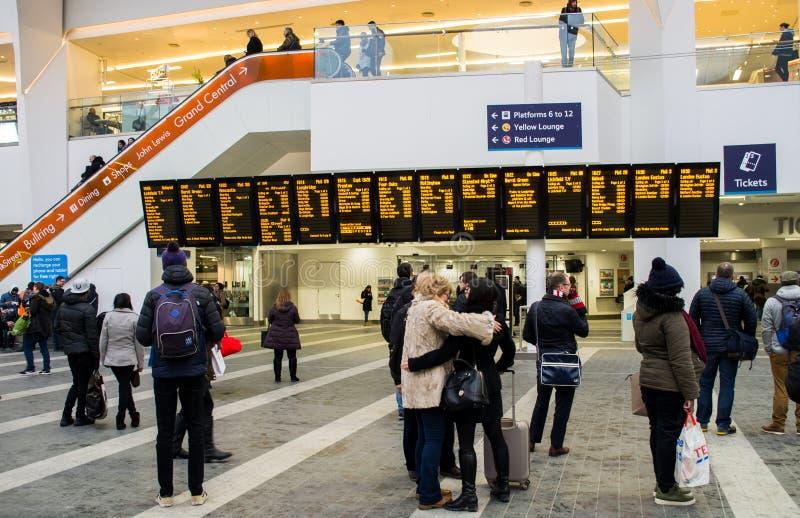Järnvägsstation i Birmingham den nya gatan, Förenade kungariket arkivbilder