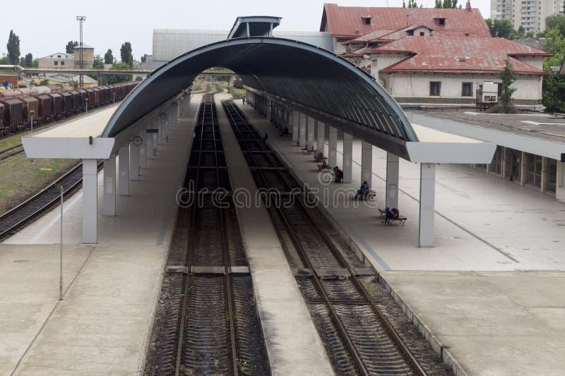 Järnvägsstation i Chisinau arkivbilder
