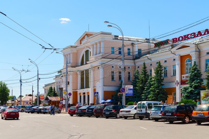 Järnvägsstation i Gomel, Vitryssland arkivfoto