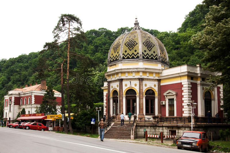 Järnvägsstation i Herculane royaltyfri foto