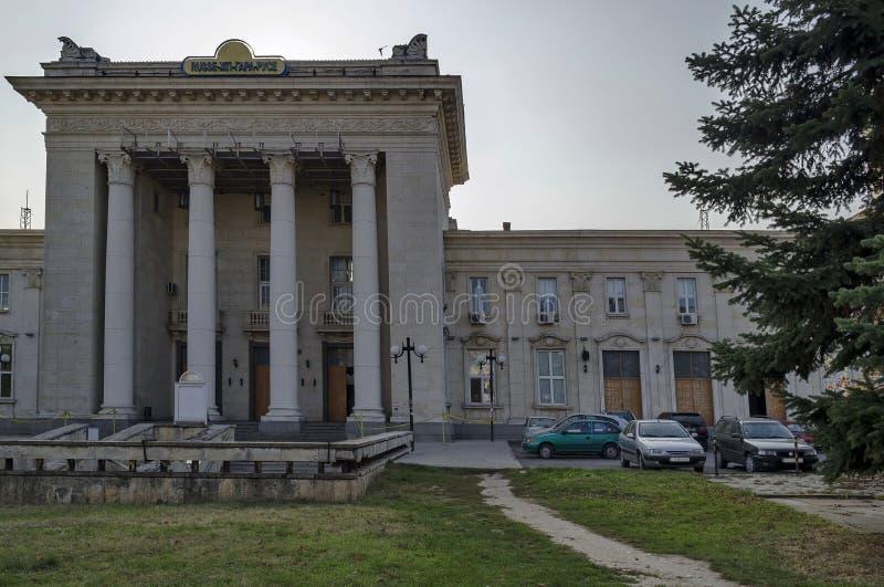 Järnvägsstationliststad, Bulgarien royaltyfri foto