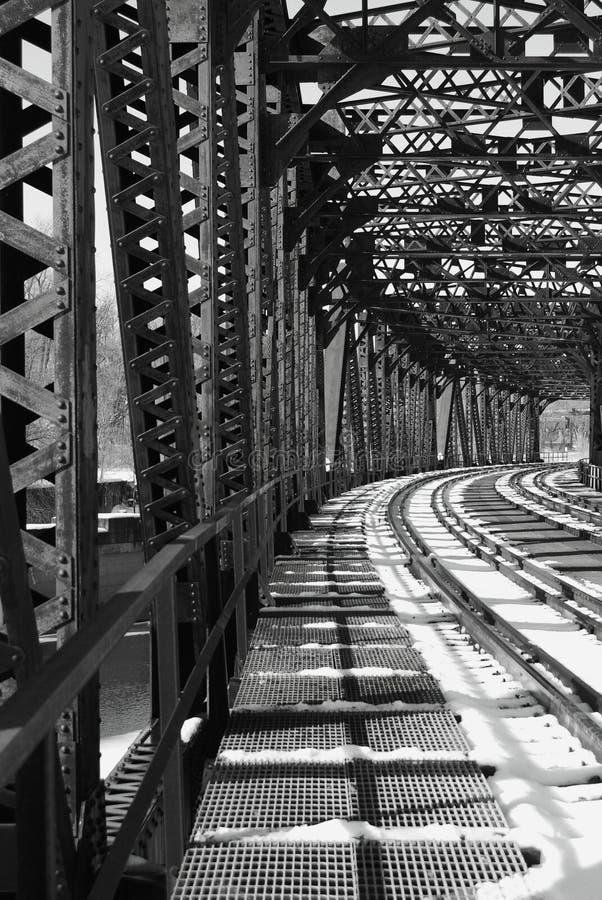 järnvägstål royaltyfria bilder